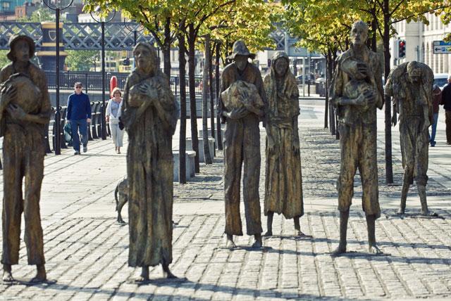 Мемориал в Дублине, посвященный жертвам Великого голода.