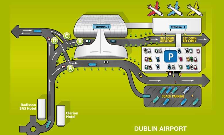 Схема аэропорта Дублина