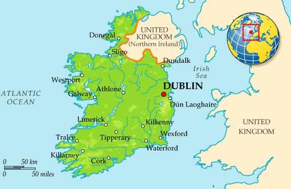 Ну и небольшое визуальное подтверждение размещения Дублина на карте.